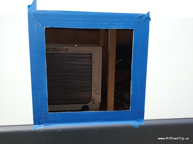 Camper Van Conversion Window Unit Air Conditioner Installation