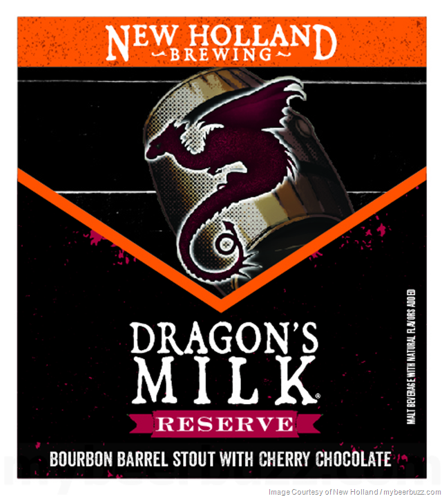 New Holland Adding Dragon's Milk Reserve Bourbon Barrel Stout With Cherry Chocolate