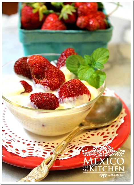 strawberries with cream fresas con crema