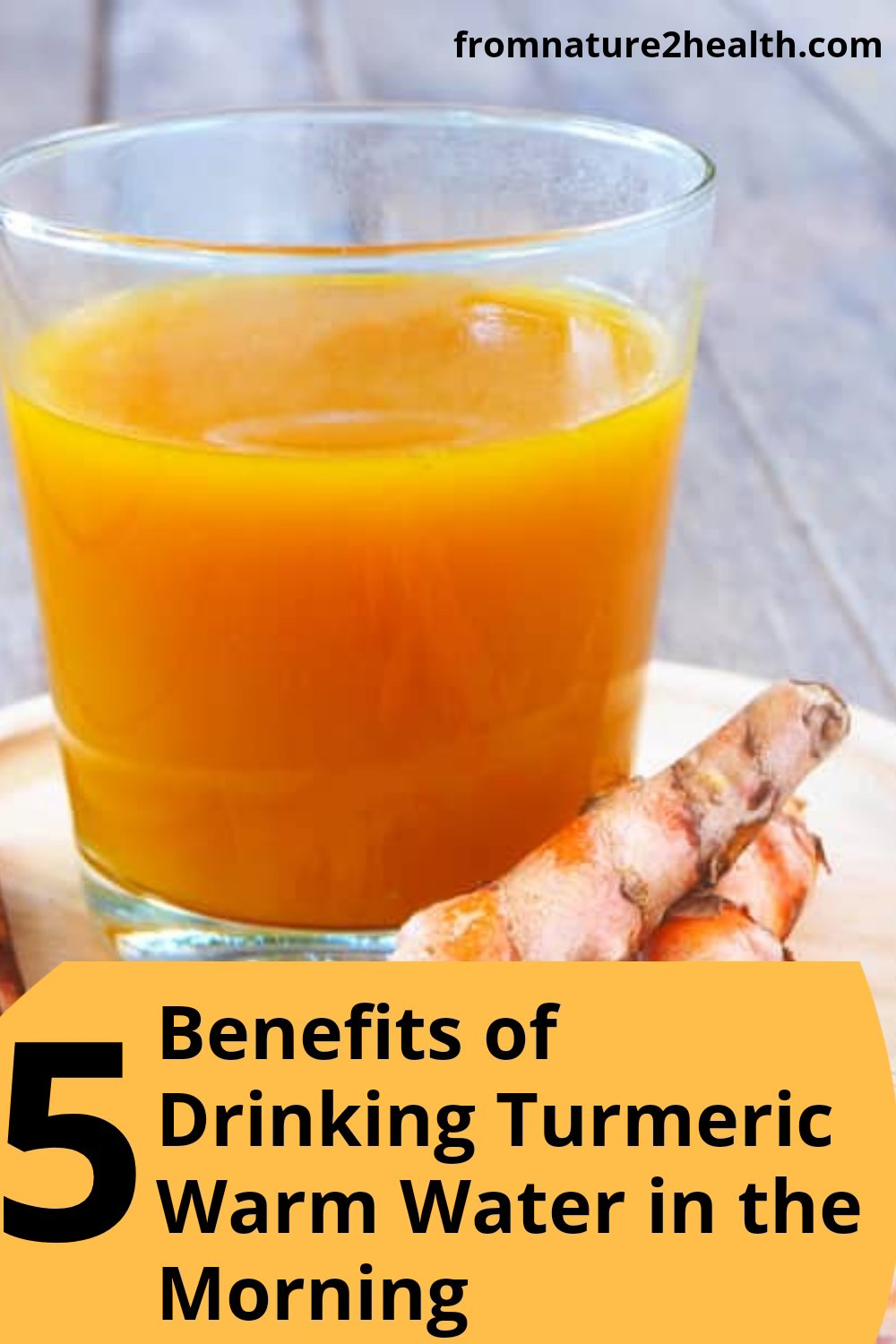 Drinking turmeric warm water every morning can also reduce the risk of cancer