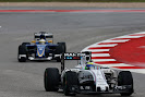 Felipe Massa, Williams FW37 Mercedes, leads Marcus Ericsson, Sauber C34 Ferrari