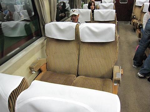 JR急行列車「はまなす」 札幌発車 6号車「ドリームカー」 シート
