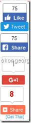 Floating social medial share buttons for blogger blog