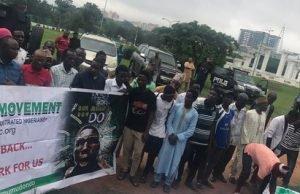 Buhari: Group storms Abuja, demands Buhari resigns