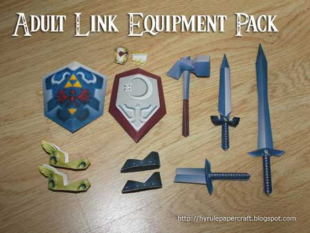 Adult Link Equipment Pack Papercraft