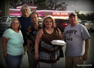 Dinner with friends at Catfish Country