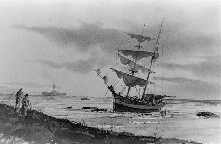 Recreación del naufragio del PROVIDENCIA. Acuarela del Historical Society of Palm Beach County.jpg