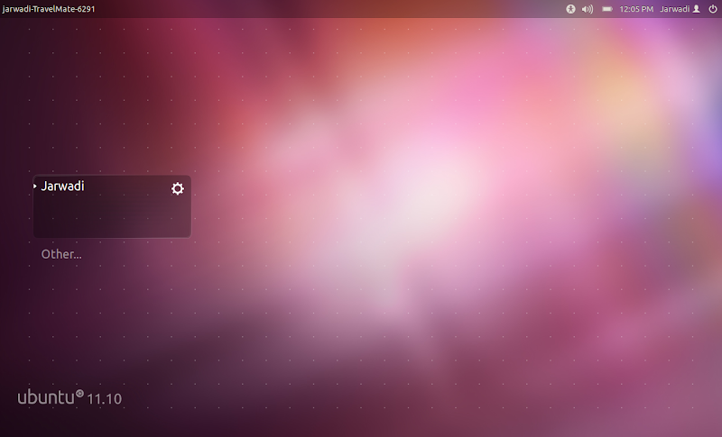 Ubuntu 11.10 Login Screen