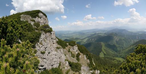 Vrcholové bralá Choča a Chočské vrchy