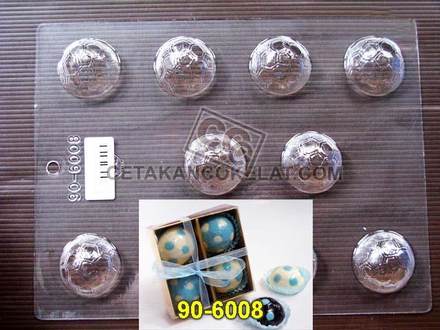 cetakan coklat cokelat bola 90-6008