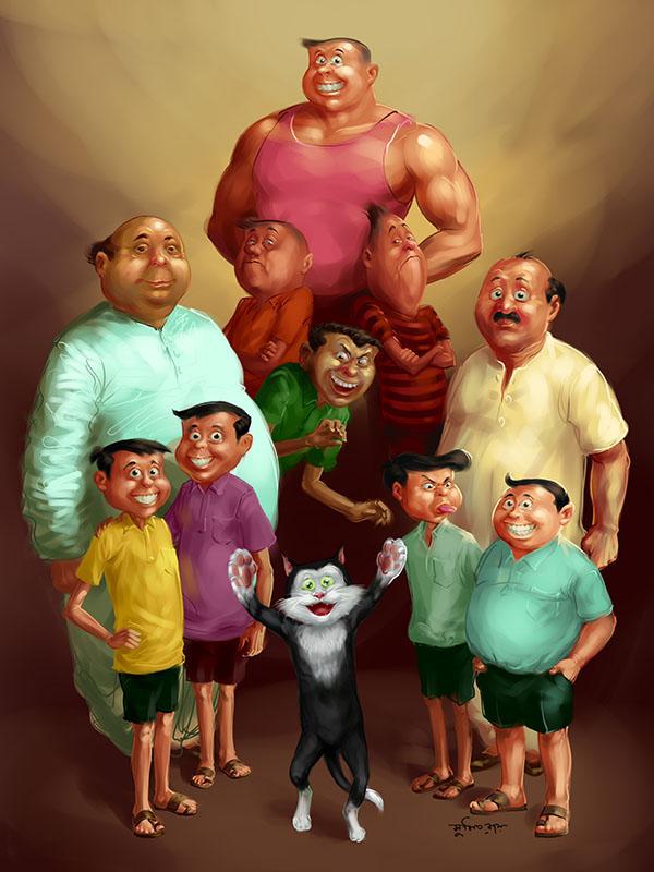 narayan debnath all characters bantul nonte fonte handa vonda bahadur beral