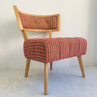 Pink Tweed Side Chair #2