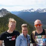 on top of sulphur mountain in Banff, Alberta in Calgary, Alberta, Canada