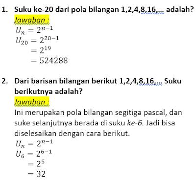 contoh soal dan pembahasan pola bilangan segitiga pascal