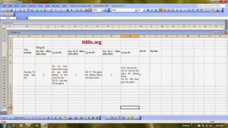 Cách tùy chỉnh cửa sổ làm việc của bảng tính Excel 8