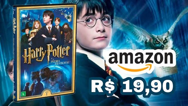 DVD DUPLO Harry Potter e a Pedra Filosofal em promoção na Amazon e Americanas apenas R$ 19,90