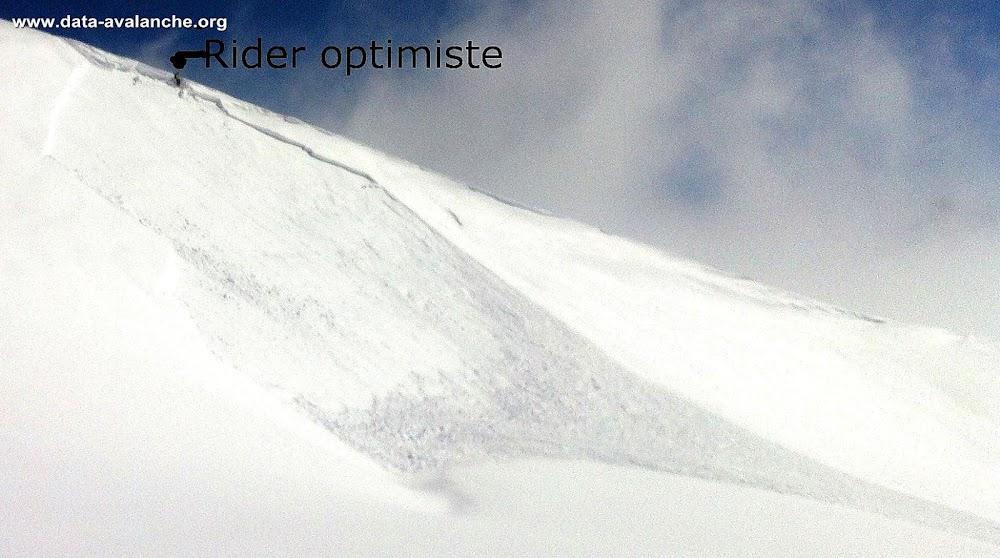 Avalanche Mont Blanc, secteur Aiguille du Midi, Entre l'Aiguille du Midi et le Col du Plan, Côté Vallée Blanche ; Chamonix - Photo 1