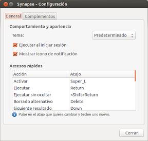 Utilizar Synapse en Ubuntu con la tecla Super