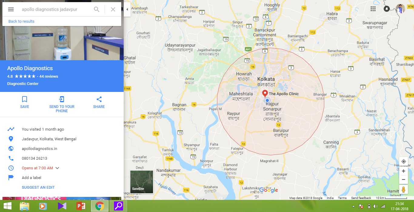 Direction not being shown on the maps page - Google Maps-Hilfe