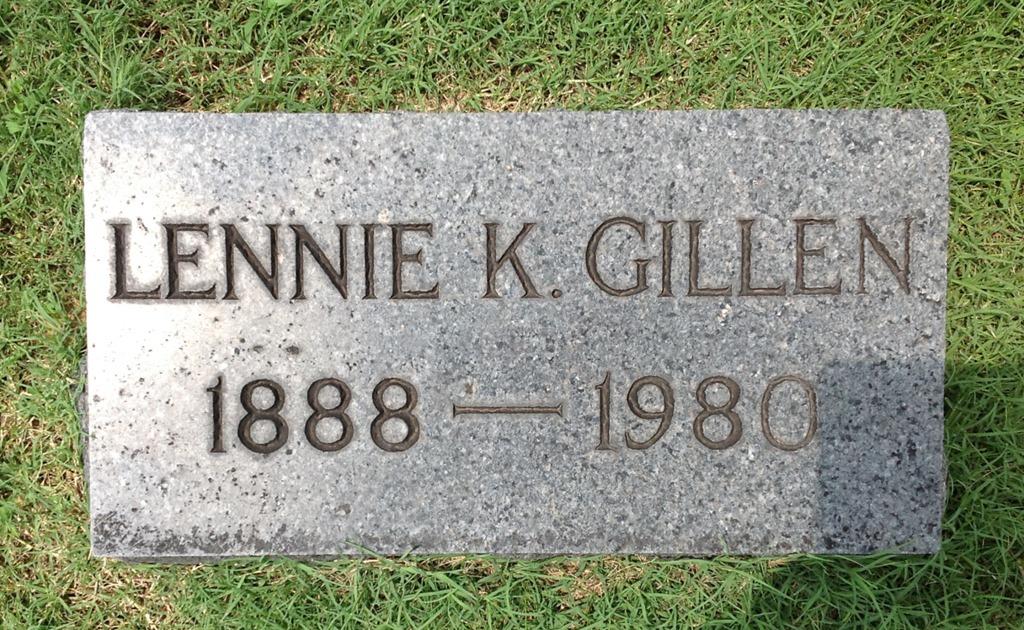 [GILLEN_Lennie_1888-1980_headstone_RomeProctorville_OH%5B4%5D]