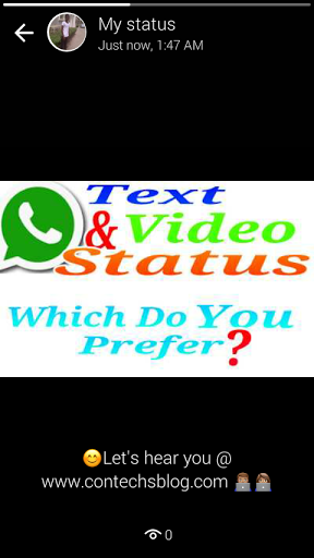 How to use whatsapp video status