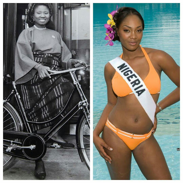 Photoshoot Of Miss Nigeria In 1957 Vs Miss Nigeria Now (Photos)