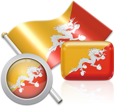 Bhutanese flag icons pictures collection