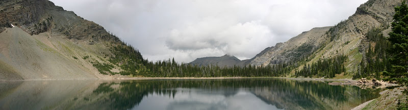Crypt Lake reflection panorama