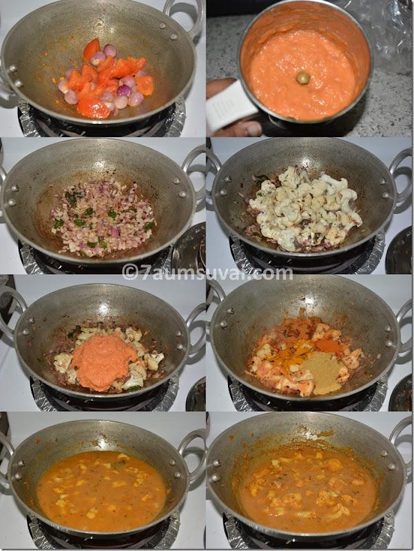 Cauliflower kuzhambu