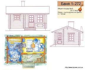 Проект бани 1 - 272