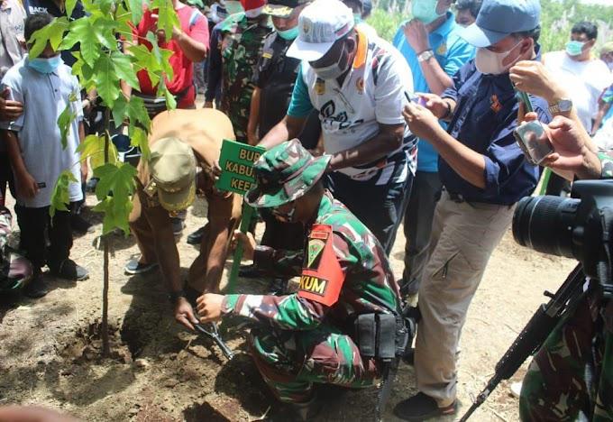 TNI DI PAPUA, Satgas Pamtas Yonif 403/Wirasada Pratista mendapat Apresiasi di awal Pengabdian dari Bupati