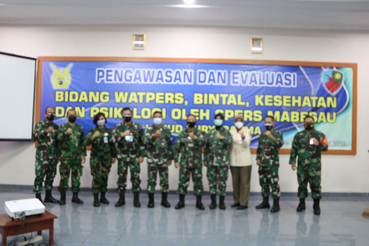 Spers Mabesau melaksanakan  pengawasan dan Evaluasi  di Lanud Suryadarma