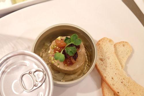 Dominique Portet Fontaine White 2013 paired with foie gras parfait