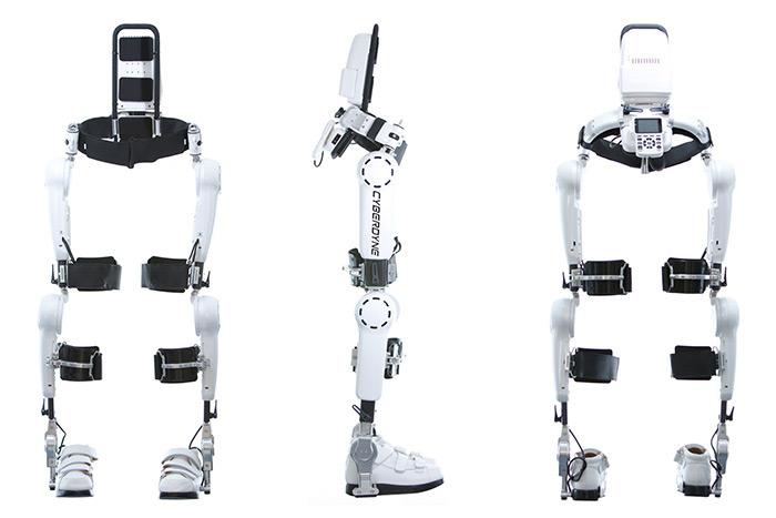 Exosquelette Hal à fixer sur les jambes.