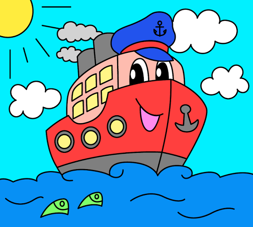 Coloring pages for children : transport  screenshots 6