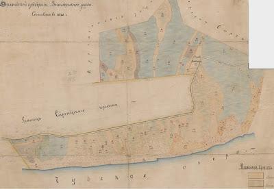 План земельных угодий, отведенных в надел православной школе Сыренца, составлен в 1878 г.(Эст. истор. архив EAA.3724.4.1739)