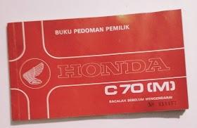 Buku pedoman Pemilik Honda C 70.