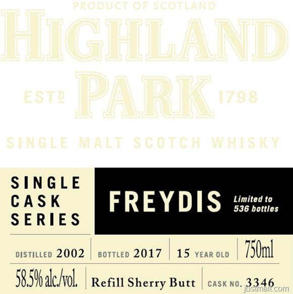 Highland Park Single Cask Series Freydis & Arne
