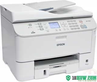 How to reset flashing lights for Epson WorkForce WP-4525 printer