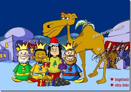 Juego navidad, una foto con los reyes magos