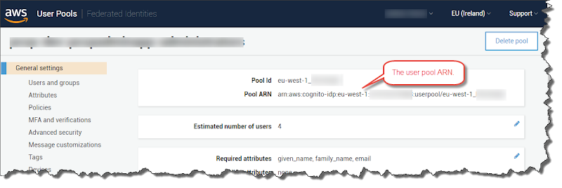 AWS Cognito integration with lambda functions using the