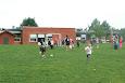 Streethandbold i idrætstimerne for 1. klasse på det grønne område, idrætstimer for 5. kl i skolegården og i de store frikvarterer for alle i skolegården.