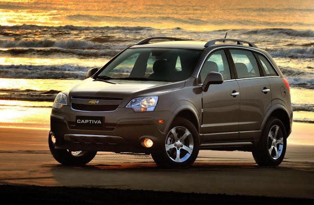 Nova Chevrolet Captiva 2011 rodas de 17 polegadas