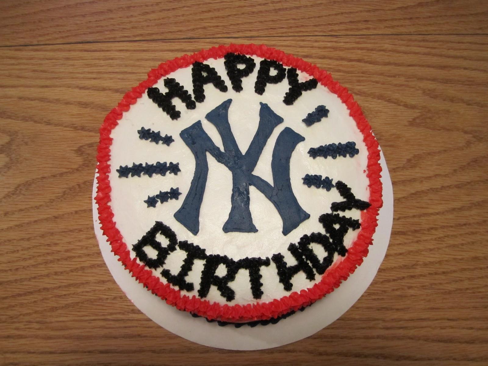 Marvelous Jessicas Sweet Side New York Yankees Cake Funny Birthday Cards Online Benoljebrpdamsfinfo