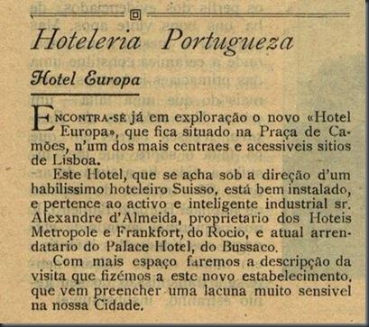 Hotel Europa.1 (Maio de 1921)