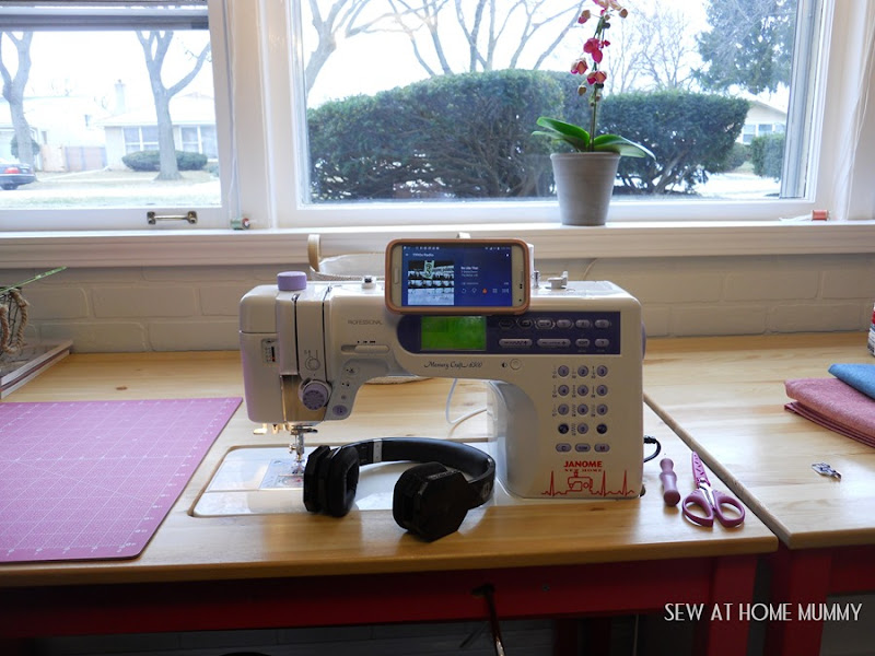 how to mount your cell phone on your sewing machine