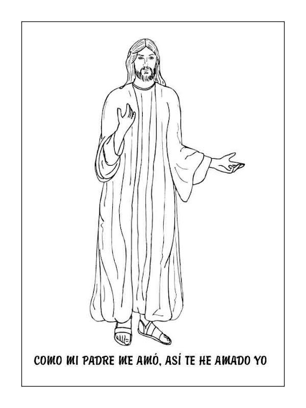Dibujos Católicos : Jesus te ama para colorear