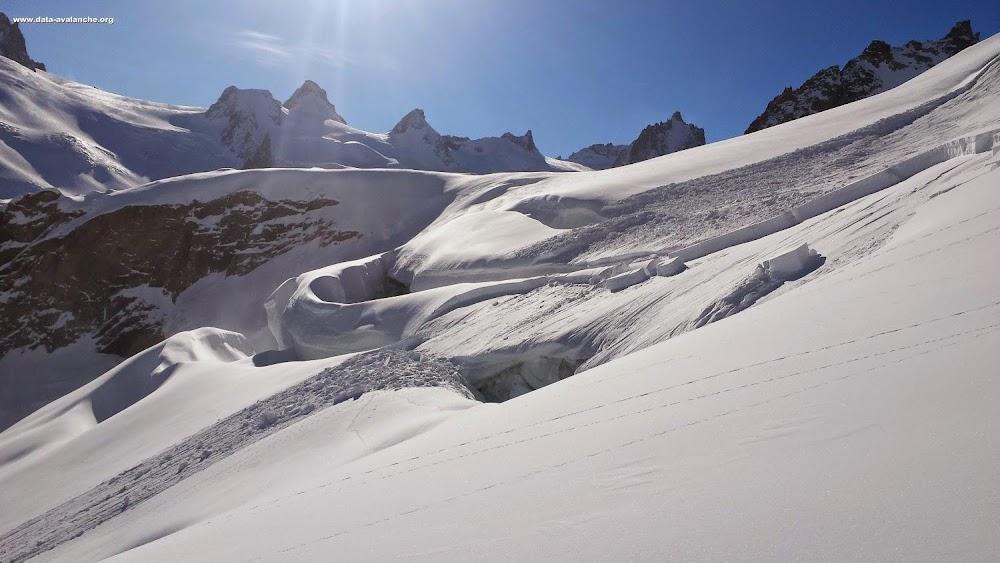 Avalanche Mont Blanc, secteur Vallée Blanche, Petit Rognon - Photo 1 - © Raulet Yan
