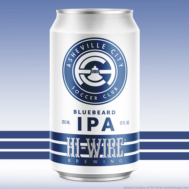 Hi-Wire Brewing Announces April 2018 Beer Releases (Bluebeard IPA Cans)