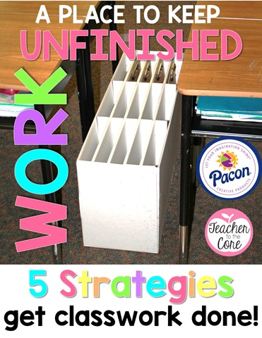 I used the Pacon paper sorter to keep and organize unfinished work, but when I stuck it in between 2 table groups you won't believe what happened!